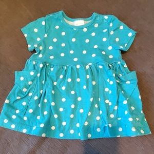 Hanna Andersson Baby Girls Polka Dot Dress Blue